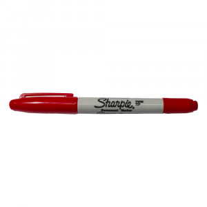 MARCADOR DOBLE PUNTA COLOR ROJO SHARPIE