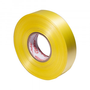 CINTA DE REGALO ROLLO 2CM.X42 MT COLOR AMARILLO CINTELA