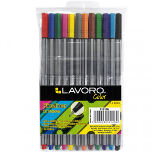 FINELINER 0,5MM 12 COLORES LAVORO