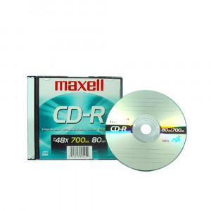 CD GRABABLE 700 MB/80 MIN/48X C/SLIM MAXELL